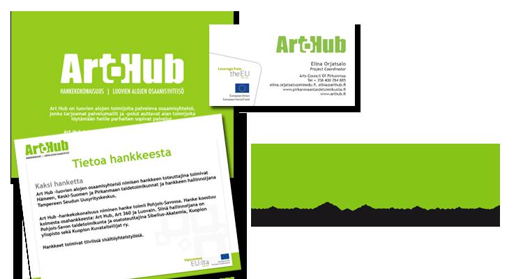 Imago  ArtHub: Logo, käyntikortit, offcemateraalit