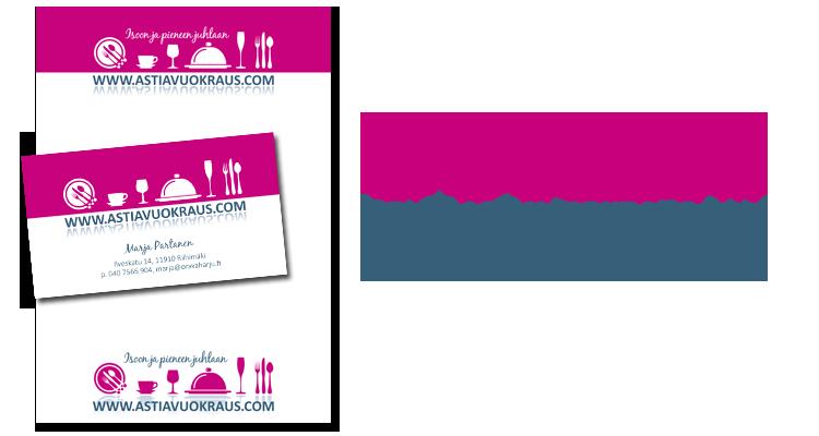 Imago / Astiavuokraus: Logo, käyntikortit, officemateraalit, autonteippaus
