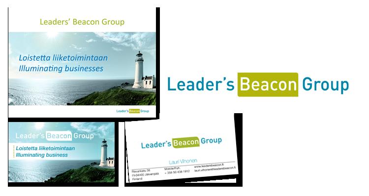 Imago / Leader´s Beacon Group: Logo, web-sivusto, kyntikortit