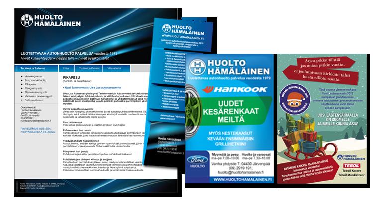 Printti / Huolto Hämäläinen: Markkinointimateriaalit