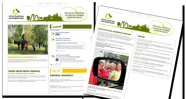 Nettisivusto / Hyvä kasvaa Järvenpäässä: Logo, markkinointimateraalit, nettisivusto, logo, imago