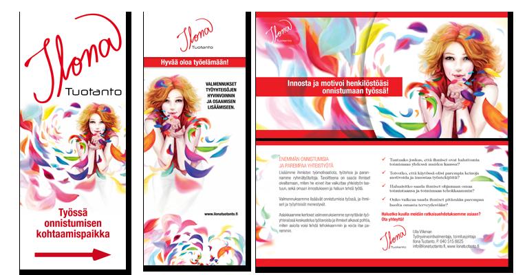 Printti / Ilona tuotanto: Markkinointimateriaalit