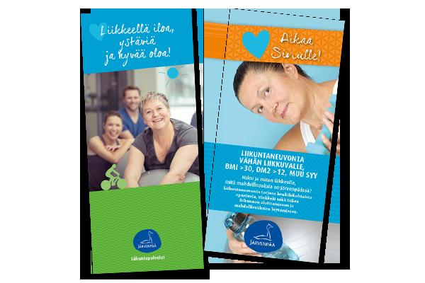 Printti / Järvenpään kaupunki: Liikuntapalveluiden markkinointimateriaalit
