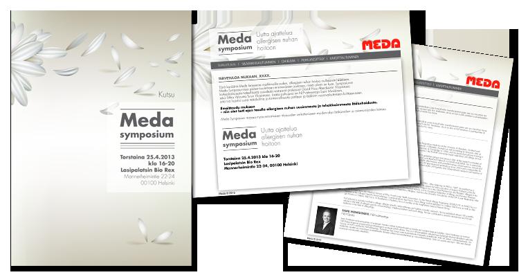 Tapahtuma imago /  Meda: Kutsut, webimago, tapahtumamateraalit