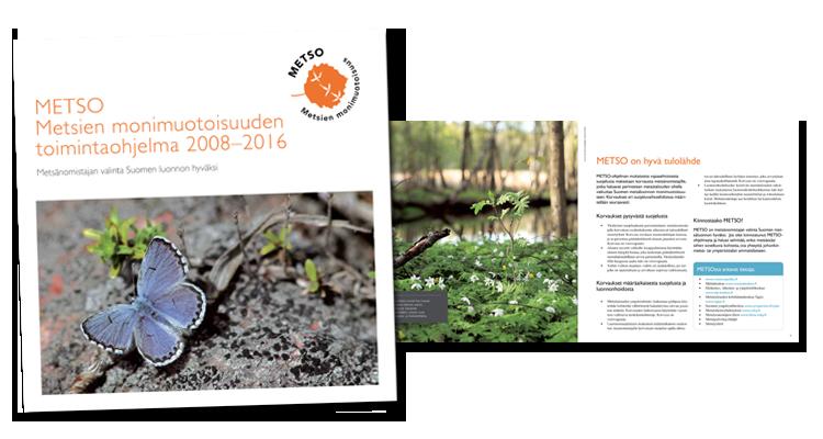 Printti / Ympäristöministeriö: Metso monimuotoisuus esite