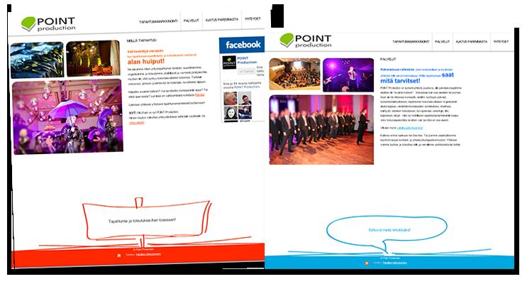 Nettisivusto: Point production Oy: Logo, nettisivusto, markkinointimateraalit