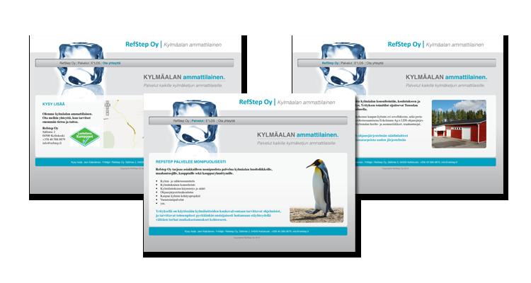 Nettisivusto / Refstep Oy: Nettisivut, logo, värimaailma