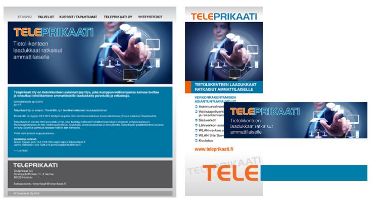 Imago / Teleprikaati: Websivusto, julisteet, logo, käyntikortit, ilmoituspohjat