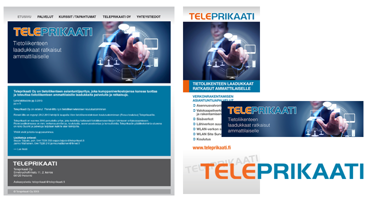 Printti / Telepriikaati: Imago, Markkinointimateriaalit, nettisivusto